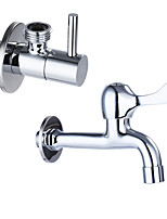 Contemporain norme Spout Set de centre Pattes de lion with  Valve en laiton Mitigeur un trou for  Chromé , Robinet de Cuisine