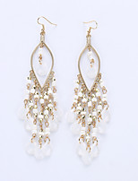 European And American Fashion Droplets Long Earrings Bohemia Sweet Personality Of Beads Tassel Earrings