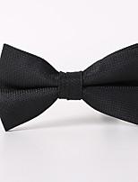 Для мужчин Винтаж / Для вечеринки / Для офиса / На каждый день Бабочка,Полиэстер / Смесь хлопка Однотонный,ЧерныйВесна / Лето / осень /