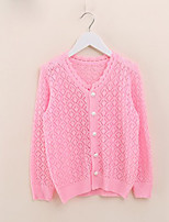 Girl's Casual/Daily Solid Sweater & Cardigan,Wool Spring / Fall Pink / White / Yellow