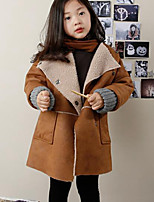 Girl's Casual/Daily Solid Suit & BlazerPU Winter / Fall Brown