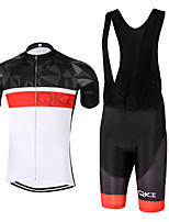 QKI  Dia Cycling Jersey with Bib Shorts 5D Pro Gel Padde Unisex Short SleeveBreathable /Quick Dry