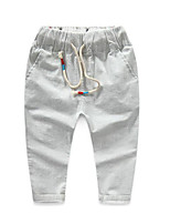 Girl's Casual/Daily Solid PantsCotton Spring / Fall Pink / Red / Gray