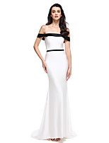 2017 TS Couture® Formal Evening Dress Trumpet / Mermaid Off-the-shoulder Sweep / Brush Train Jersey with Sash / Ribbon