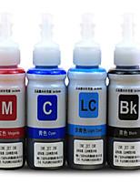 заливки чернил принтера (4-цветные пучки красный 70мл 70мл синий светло-голубой 70ml черный 70мл)