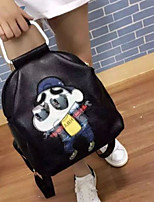 Women Cowhide Casual / Outdoor Backpack White / Black