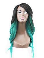 nouveau style cheveux verts dentelle avant ondulées naturelle perruques synthétiques