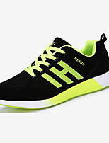 Men's Sneakers Spring Fall Comfort PU Outdoor Casual Flat Heel Lace-up Blue Green Red