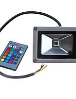 12-24v 900-1100lm 10w colorés rgb infrarouges voyants de contrôle à distance des lumières du paysage rgb