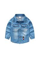 Menino de Jeans,Casual Cor Única Algodão Primavera / Outono Azul