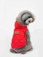 Katzen / Hunde Mäntel / Pullover / Jacke Rot / Grau Hundekleidung Winter einfarbigUrlaub / Modisch / Lässig/Alltäglich / Sport / warm