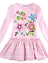 Girl's Dress Baby Princess Dress Party with Flowers Dress for Girls Cartoon Kids Dresses(Random Printed)