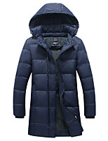 Men's Regular Padded CoatCotton / Polyester Solid Long Sleeve