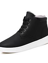 Черный / Синий / Желтый-Мужской-Для прогулок / На каждый день-Полиуретан-На плоской подошве-Удобная обувь-Ботинки