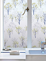 Window Film Window Decals Style Green Trees PVC Window Film - (100 x 45)cm