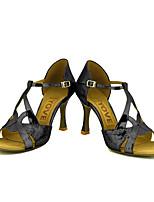 Chaussures de danse(Noir / Bleu / Rouge / Argent / Or) -Personnalisables-Talon Personnalisé-Paillette Brillante-Latine / Salsa