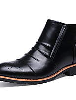 Men's Boots Spring / Fall / Winter Others Leather Casual Zipper Black / Khaki Others
