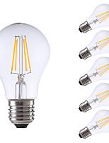 6W E26/E27 LED-hehkulamput A60(A19) 4 COB 806 lm Lämmin valkoinen Himmennettävä AC 220-240 V 6 kpl
