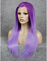 IMSTYLE 24''Drag Queen Ombre Purple Straight Synthetic Lace Front Wig