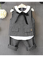 Girl's Casual/Daily Solid Vest / Clothing SetCotton Spring / Fall Gray