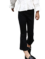 Girl's Casual/Daily Solid PantsCotton Spring / Fall Black