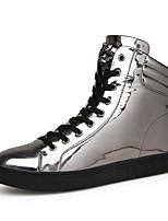 Men's Boots Spring / Fall Comfort Fabric Casual Flat Heel Black / Silver Sneaker
