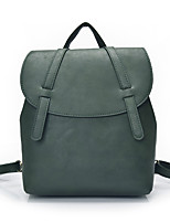 Casual Outdoor Shopping Backpack Women PU Green Brown Red Gray Black