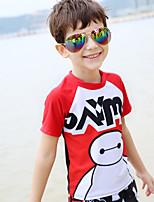 Детские Дышащий Сжатие видеоизображений Удобный Терилен Водолазный костюм Купальники-Плавание Лето Мультфильмы
