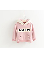 Girl's Casual/Daily Solid Hoodie & Sweatshirt / Skirt / Clothing SetCotton Winter Pink