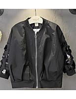 Girl's Casual/Daily Solid Blouse / Jacket & CoatNylon Spring / Fall Black