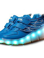 Черный Синий Белый-Для мальчиков-Для прогулок Повседневный Для занятий спортом-Кожа-На низком каблуке-Удобная обувь-Кеды