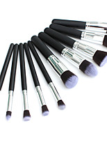 10 Blush Brush / Eyeshadow Brush / Brow Brush / Eyeliner Brush Professional / Travel / Full Coverage Wood
