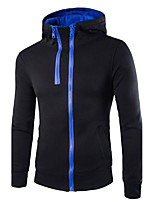 Men's Casual Street Striped Turtleneck Long Sleeve Cotton Zipper Cardigan Winter Hoodies Flannel Sweater