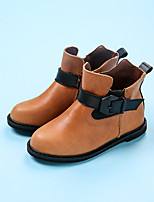 Girl's Boots Comfort PU Casual Black Brown Red