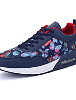 Unisex Athletic Shoes Spring / Fall Comfort PU Casual Flat Heel Lace-up Black / Blue / Pink Sneaker