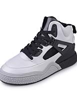 Белый / Серый-Женский-Для прогулок / На каждый день / Для занятий спортом-Полиуретан-На плоской подошве-Удобная обувь-Кеды