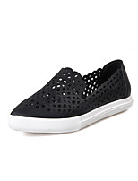 Women's Loafers & Slip-Ons Summer Comfort Leather Casual Flat Heel Others Black / White / Silver Others