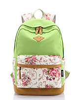 Casual Outdoor Backpack Women Canvas Pink Purple Blue Green Red