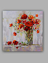 Hand-Painted Abstract / Floral/Botanical 100% Hang-Painted Oil Painting,Modern / Classic One Panel Canvas Oil Painting For Home Decoration