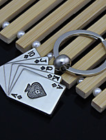 Good Luck Poker Flush Keychain Metal Creative Car Men 'S Key Accessories