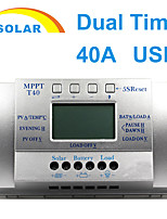 Y-SOLAR 40A LCD PWM Solar Charge Controller Battery Regulator 3 Time 12V/24V T40-S
