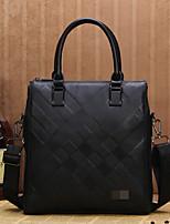 Men Cowhide Casual / Office & Career Shoulder Bag Black