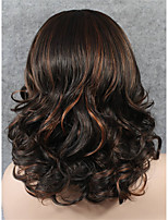imstyle 16''high качество коричневый смешивания средние волны синтетические парик фронта шнурка высокой Термостойкое волокно