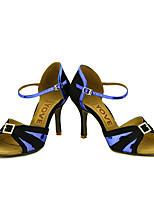 Chaussures de danse(Bleu / Rose / Rouge / Argent / Or) -Personnalisables-Talon Personnalisé-Paillette Brillante-Latine / Salsa