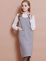 XuanFeiLu Women's Strap Sleeveless Midi Dress-Q-615