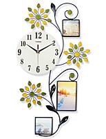Модерн Домики Настенные часы,Прочее Стекло / Металл / Полирезина 13 В помещении Часы