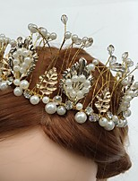 Mujer Diamantes Sintéticos / Tul / Aleación / Acrílico Celada-Boda / Ocasión especial / Casual Bandas de cabeza / Flores 1 Pieza