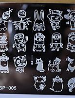 neue Maniküre Schablone Nagelplatten Comic-Figuren Prägedesigns Bild Scheibe Transferdruck