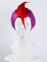 Detention House No.69 Rock Purple and Red Halloween Wigs Synthetic Wigs Costume Wigs