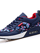 Women's Sneakers Spring Fall Comfort PU Casual Flat Heel Lace-up Black Blue Gray Others